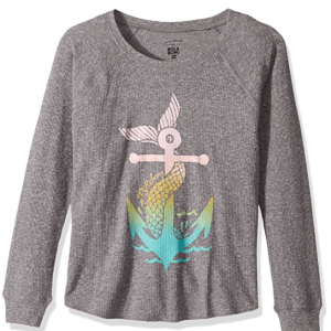 tween girls mermaid thermal long sleeve
