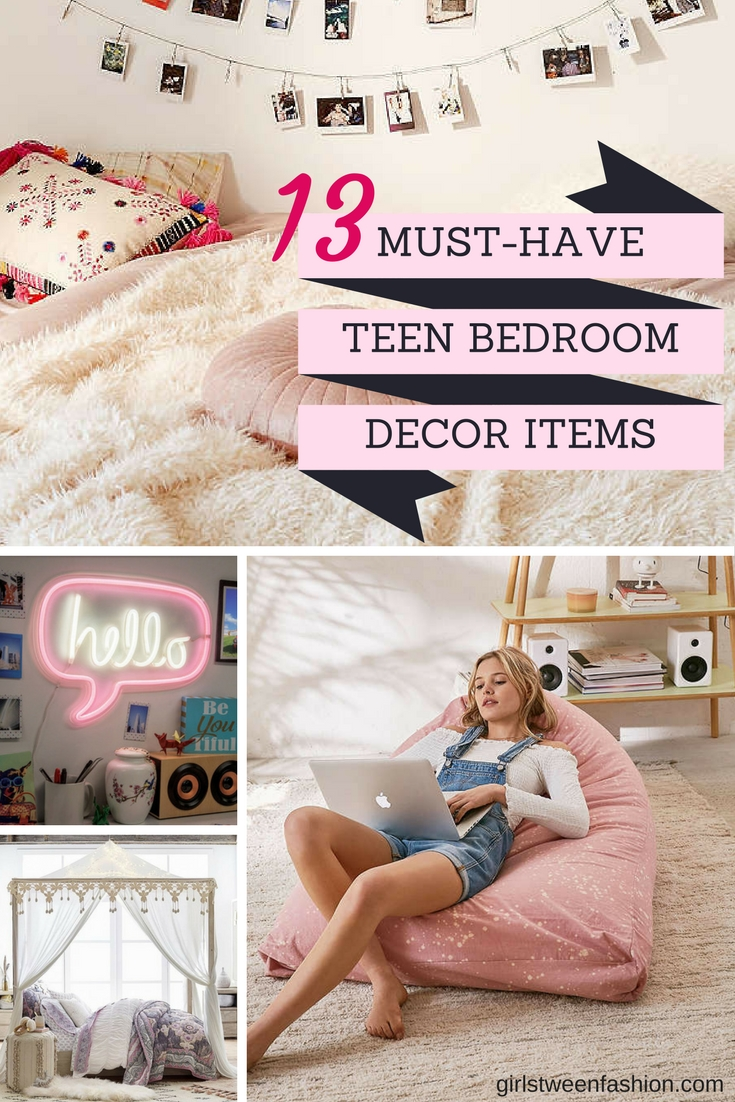 13 Must Have Teen Bedroom Decor Items Girls Tween Teen Interiors Inside Ideas Interiors design about Everything [magnanprojects.com]