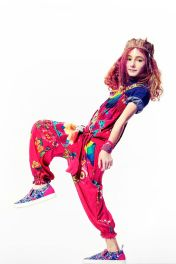 Jumpsuit by Desigual, shoes by MSGM, denim shirt by Trussardi all at Childrensalon for spring 2015