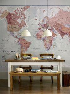 Wereldkaart Pinterest