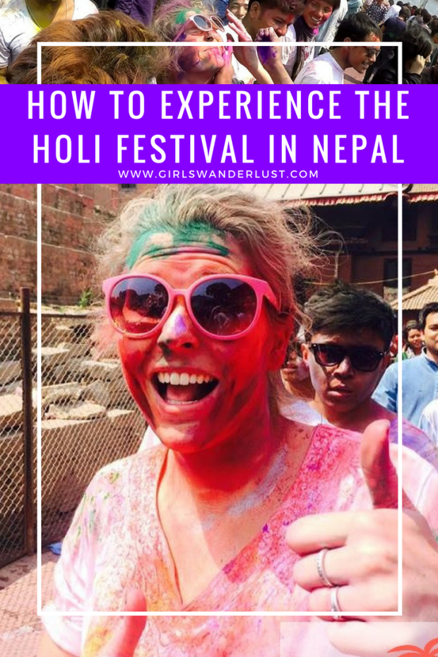 How to experience the Holi Festival in Nepal.  #girlswanderlust #wanderlust #travel #traveling #travelling #travel #travelblog #travelinspiration #inspiration #reizen #nepal #holi #festival.png