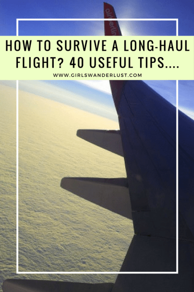 How to survive a long-haul flight. 40 Tips on #traveling comfortable, drinks, food, and things to do via @girlswanderlust. #travel #longhaul #flight #airplane