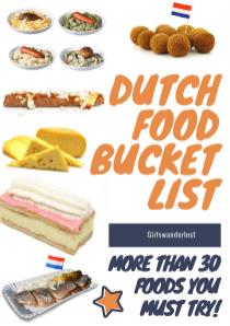 Dutch food bucket list 2 - 30 Foods you must try in the Netherlands via @girlswanderlust #netherlands #holland #food #bucketlist #foods #foodbucketlist #nederland