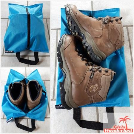 Example shoe bag. Set of 4 lightweight waterproof nylon storage travelling (shoe) bags via @girlswanderlust
