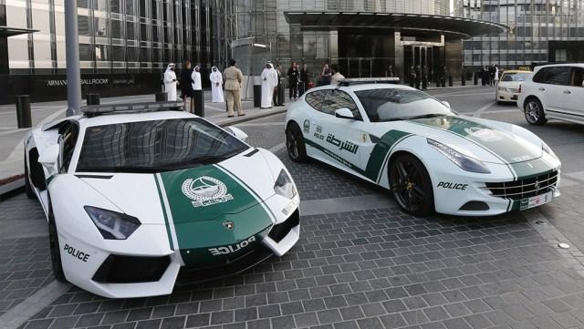 Dubai Police luxurious cars
