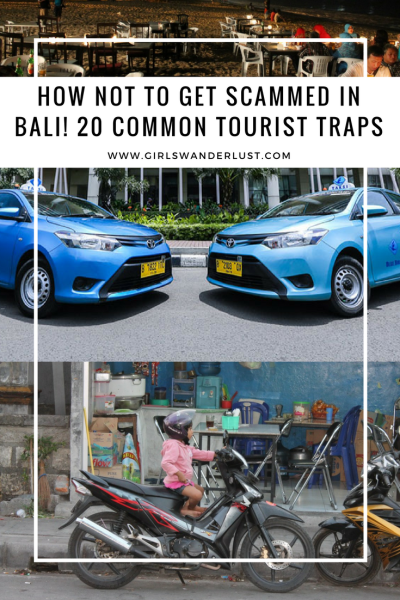 How not to get scammed in Bali! 20 Common tourist traps and how to avoid them, written by @girslwanderlust. Pinterest. #scooter #bali #indonesia #sammed #traps #touristtraps #touristscam