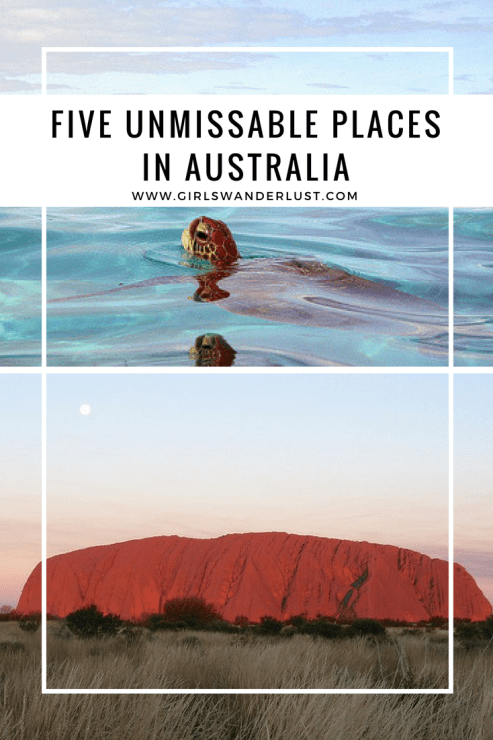 5 Unmissable places in Australia  via @girlswanderlust #pin #australia #aussie #travel #wanderlust #girlswanderlust #ningaluu #reef #uluru #Whitsundays #snowy #mountains #byron #byronbay #australie.png
