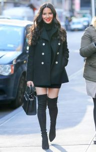 Peacoat And Black Boots