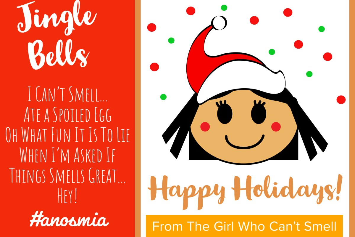 Girl Who Cant Smell Christmas Card