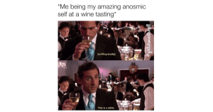 Wine Tastings When You Have Anosmia Meme