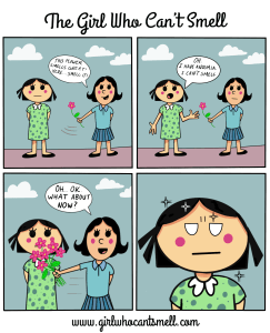 Anosmic Webcomic describing how I cant smell flowers
