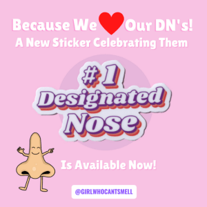Designated Nose Sticker For Sale Anosmia Awareness