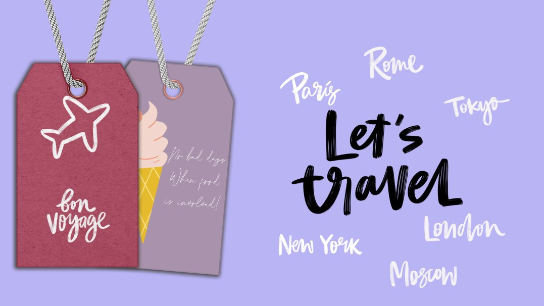 girl who loves pink shop travel tags