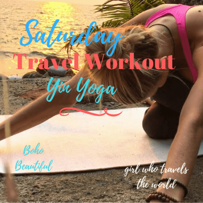 Yin Yoga Travel Workout, Girl Who Travels the World
