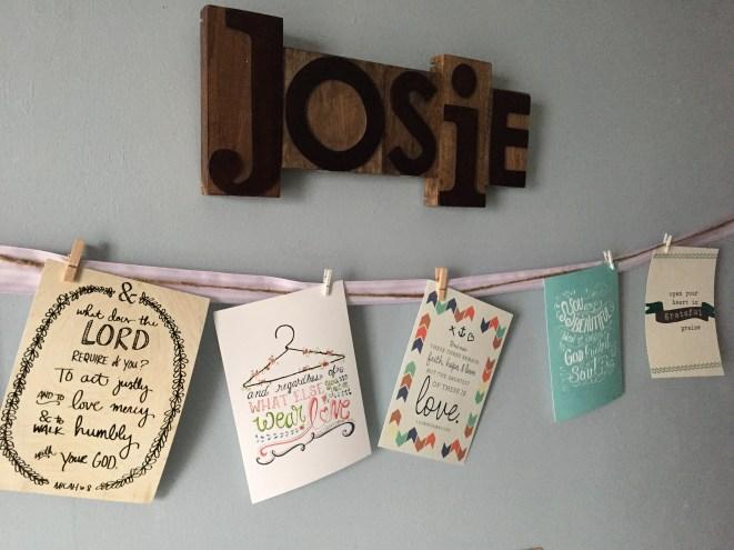 Josie's room (letterpress blocks & art prints)