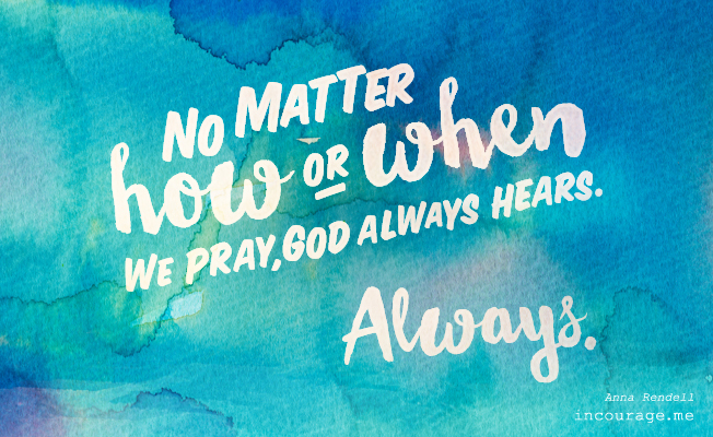 On Prayers that Permeate His Heart