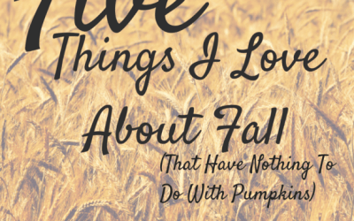 On My Top 5 Non-Pumpkin Spice Fall Favorites