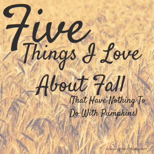 5 Things to Love About Fall at girlwithblog.com