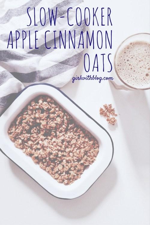 Slow-Cooker Apple Cinnamon Oats | girlwithblog.com