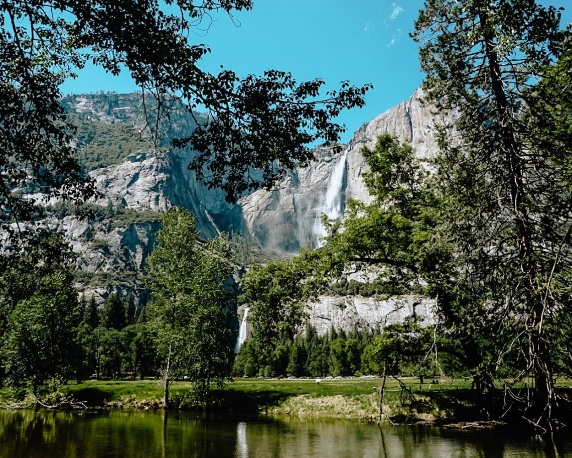 Yosemite Falls in Spring. Preparing for the cold weather is essential for a packing list.