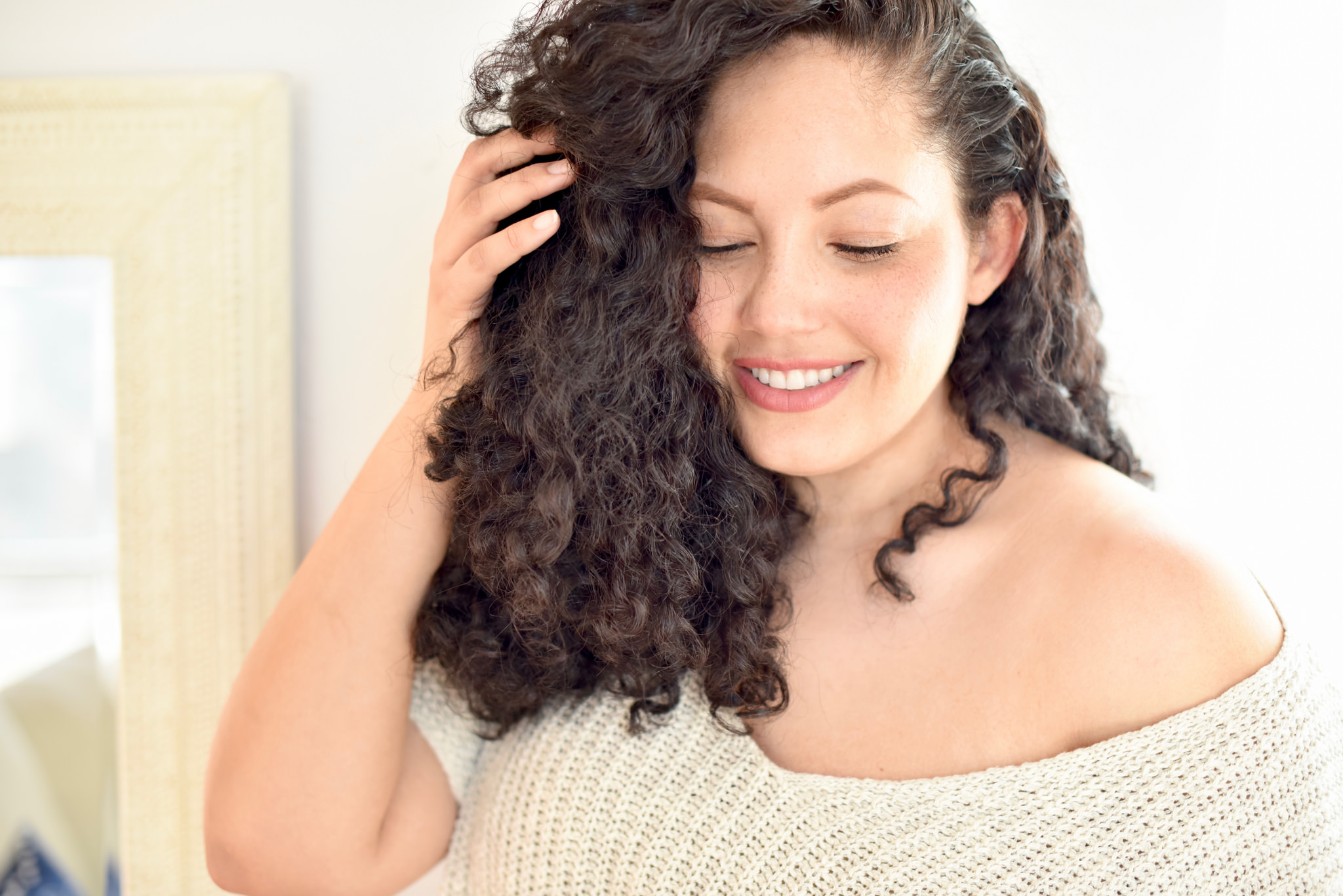 Girl With Curls My Curly Hair Care Routine