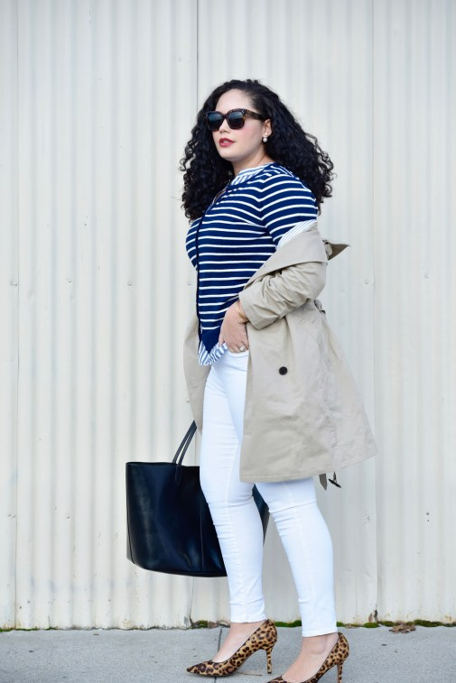 Girl with Curves featuring Coat, Tunic, Cardigan, and Jeans from Old Navy