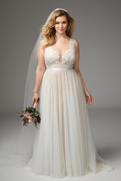 Girl With Curves featuring Plus size wedding dress from Marnie Gown