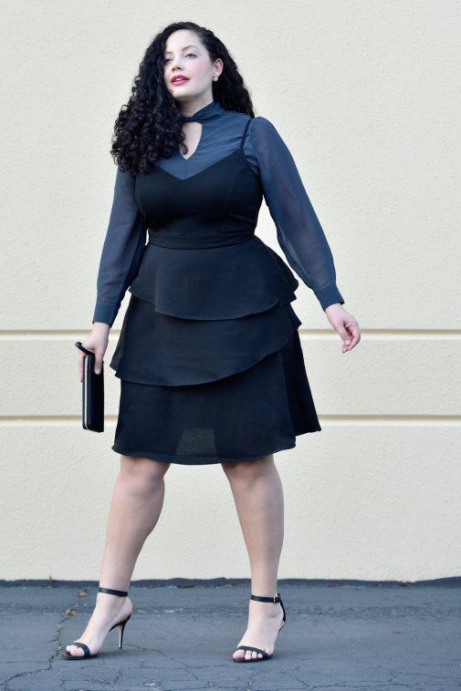 Featuring Blouse and Dress from City Chic, Wallet from Tory Burch via @GirlwithCurves