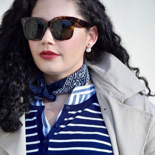 4 Ways To Style A Scarf This Season including around the neck via @GirlWithCurves