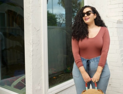 My go-to Work from Home Outfit via Girl With Curves #curvyfashion #plussizefashion