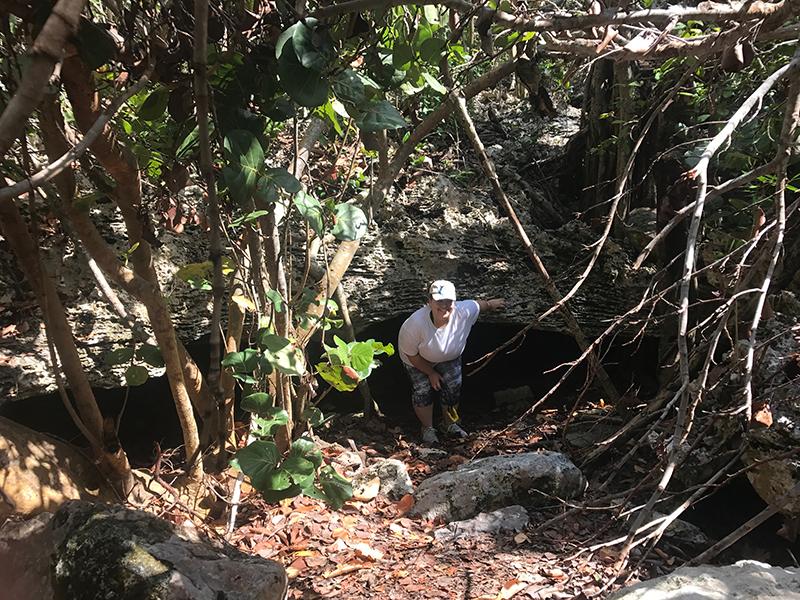 Morgans Bluff & Captain Henry Morgans Cave - Crawling Exit