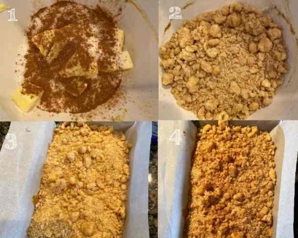 cinnamon crumble steps in photos