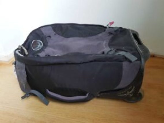 A backpack with wheels makes for the perfect carry on bag.
