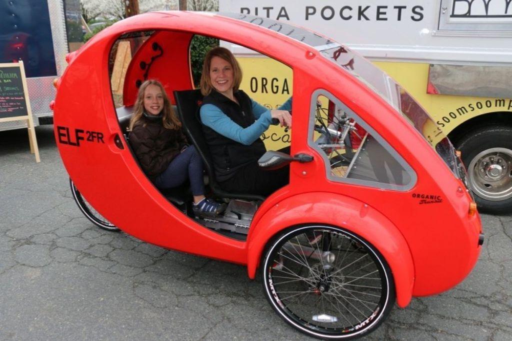 Bici-auto ELF a due posti, foto Organic Transit