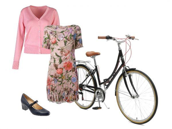Outfit per andare in bicicletta in stile bon ton