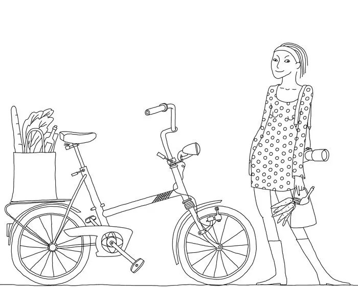 Immagine tratta dal libro The Culinary Cyclist, illustrazione di Johanna Kindvall