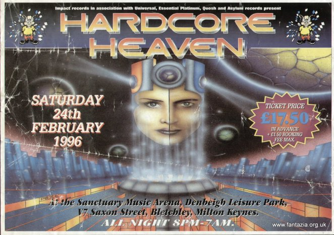 Back to the Old Skool - 90's Rave & Techno Flyers - Digital Art Mix