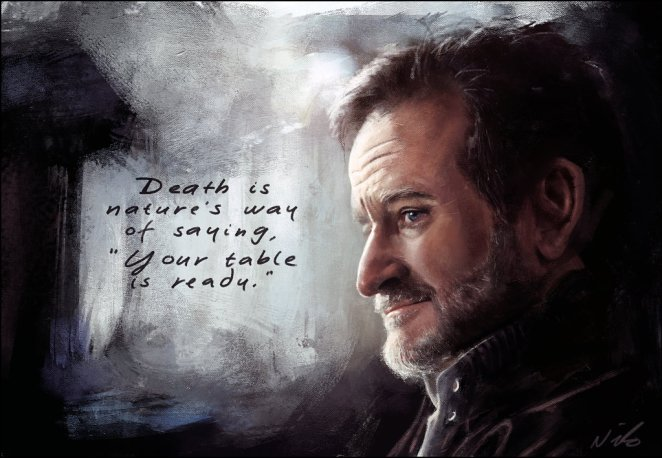 A Tribute to Robin Williams in Art & Quotes - Digital Art Mix