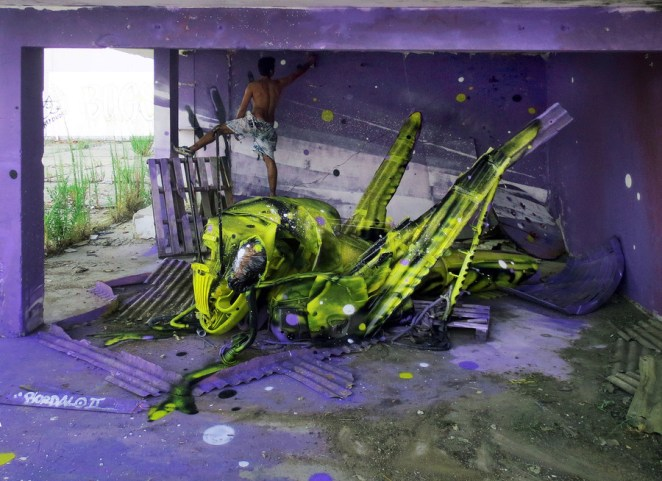 The Street Art Sculpture Mash-Ups of Bordalo II - Digital Art Mix