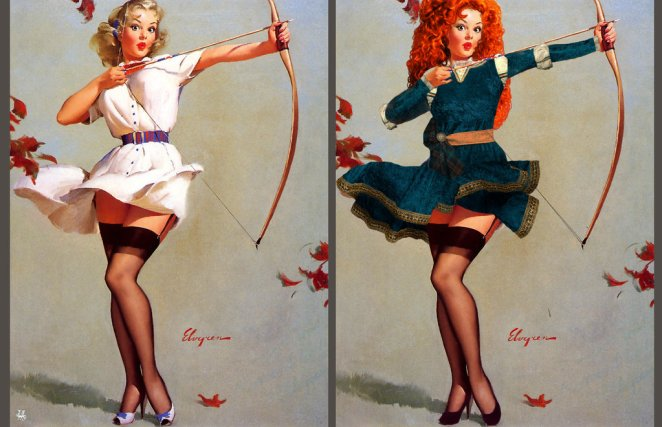 Disney Princesses as Sexy Pin-up Girls - Girly Design Blog