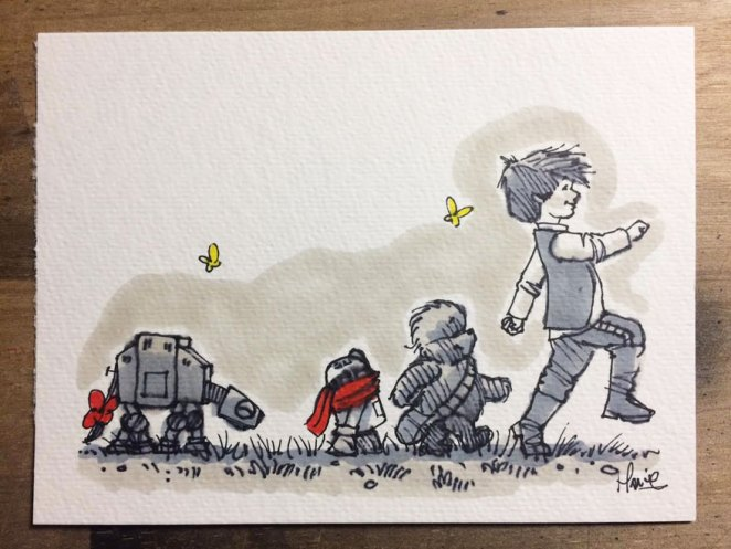 If Star Wars was Set in the Winnie the Pooh Universe - Girly Design Blog