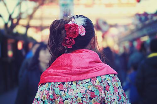 「和」「女性・女の子」「着物」などがテーマのフリー写真画像