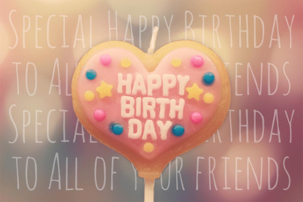 【写真スタンプ】誕生日に送りたい!かわいい誕生日ケーキの写真画像まとめ