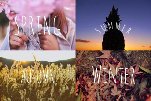 「冬」「夏」「春」「秋」などがテーマのフリー写真画像