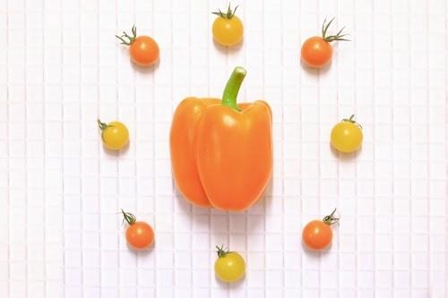 「キッチン」「ピクシータンジェリン」「フルーツ」「ラディッシュ」「俯瞰撮り」「真上から」「野菜」「食べ物」などがテーマのフリー写真画像