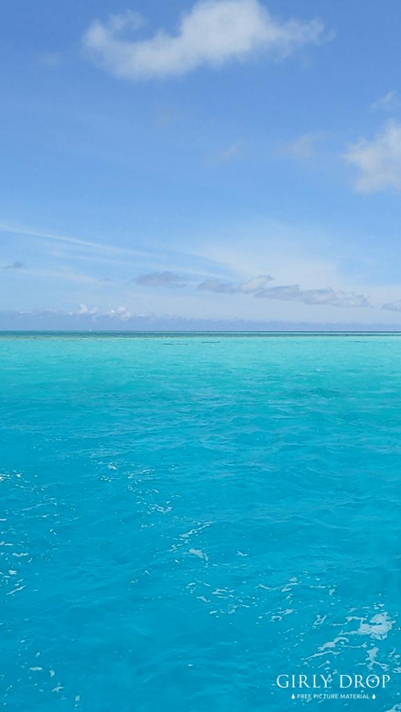 【オシャレなiPhone壁紙】沖縄宮古島のグレートバリアリーフ!?八重干瀬の美しすぎる海