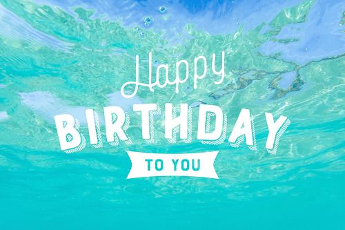 【可愛い誕生日画像】夏&海の『HAPPY BIRTHDAY』ver.1