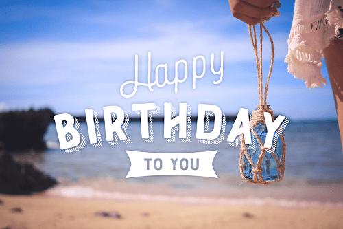 「HAPPY BIRTHDAY」「おめでとう」「お祝い」「お誕生日おめでとう」「夏」「夏の誕生日」「海」などがテーマのフリー写真画像