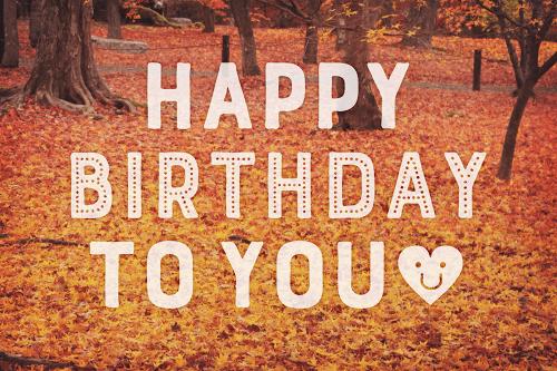 【可愛い誕生日おめでとう画像】秋生まれさんにプレゼントしたい『HAPPY BIRTHDAY』ver.10