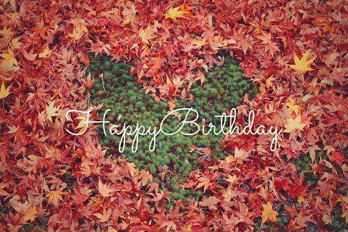 【可愛い誕生日おめでとう画像】秋生まれさんにプレゼントしたい『HAPPY BIRTHDAY』ver.2